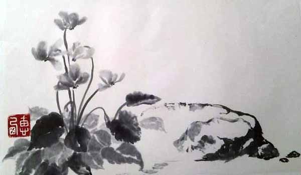 Традиционная китайская живопись стиль Сеи