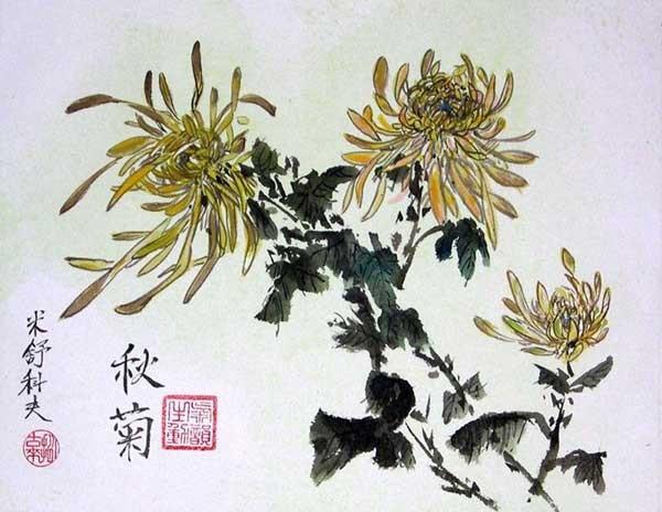 Китайская живопись - четверо благородных