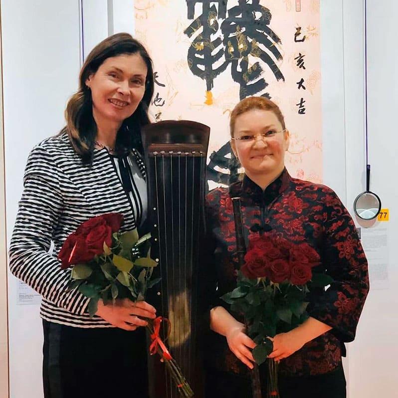 Выступление на Открытии Музея русских гуслей и китайского гуциня