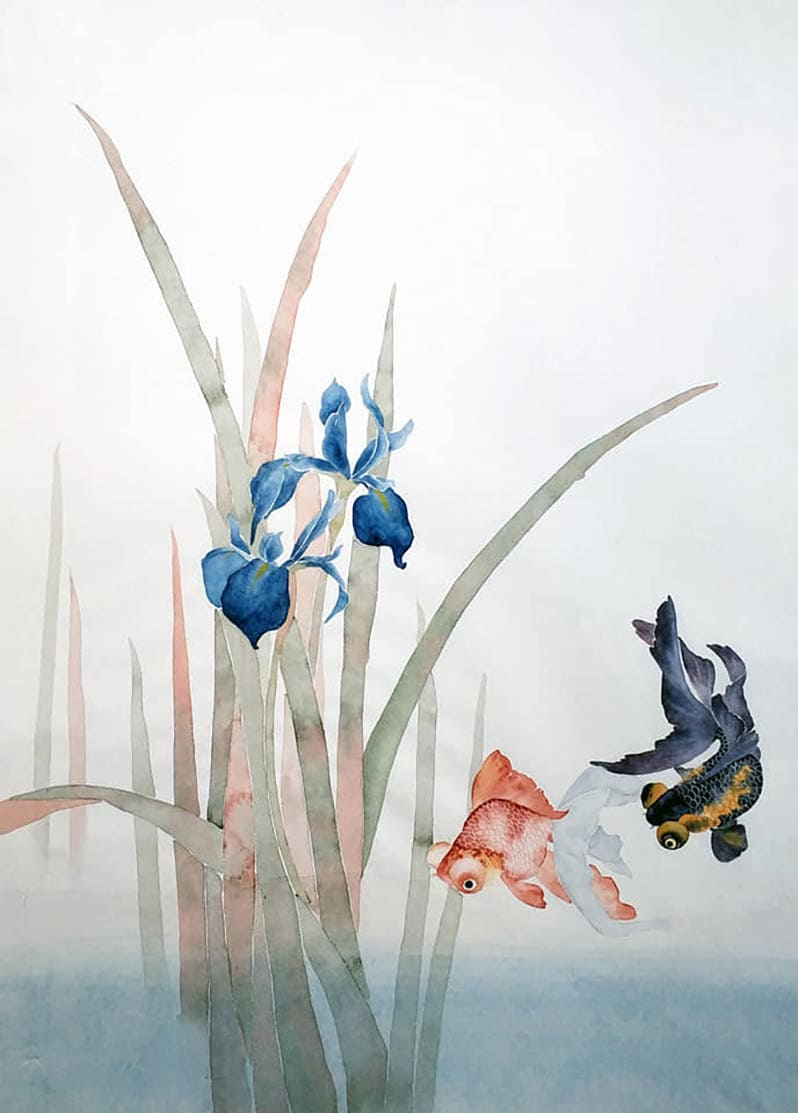 Занятия могуфа – волшебный сюжет «Ирисы и рыбы»