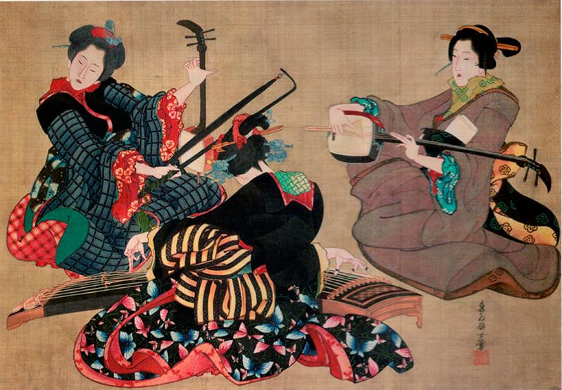 Древнейшие формы японской музыки