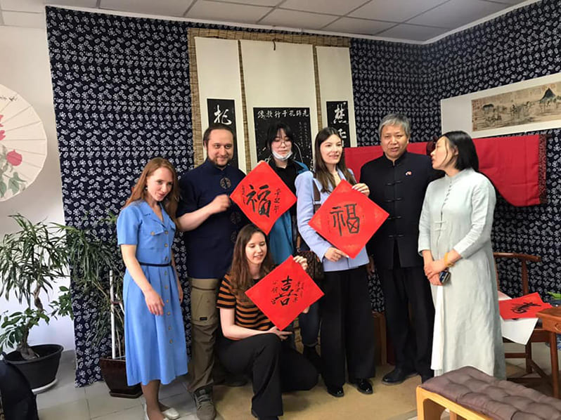 Изучаем каллиграфию с потомком Конфуция господином Кун Линмин