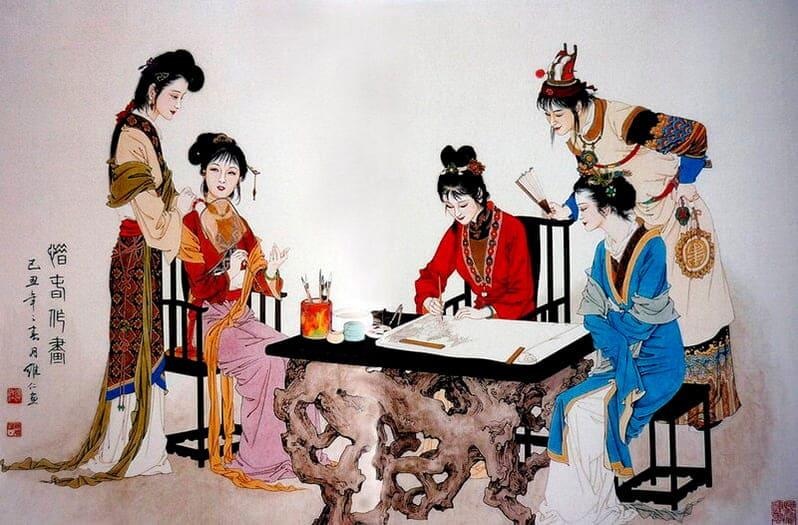 Новая группа китайской живописи