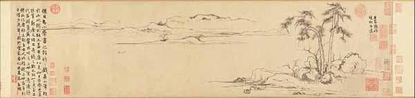 Чжао Мэнфу. Две сосны и ровная даль. ок. 1310г. Музей Метрополитен, Нью - Йорк