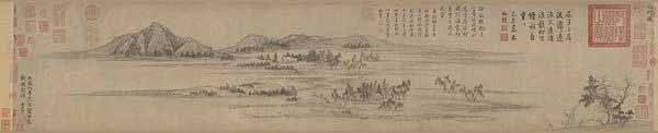 Чжао Мэнфу. Поселение у воды. 1302г. Гугун, Тайбэй