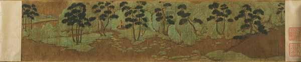 Чжао Мэнфу. Мысленный пейзаж Се Ююя. ок. 1287 года. Музей искусства Принстонского университета.