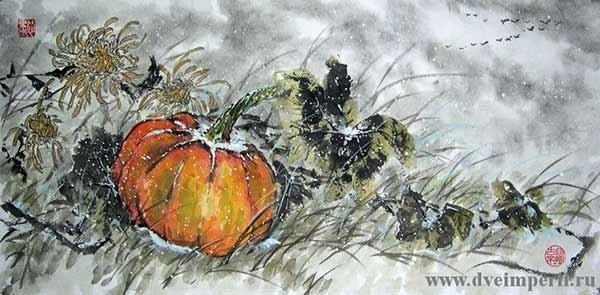 Поздняя осень, а тыковку забыли