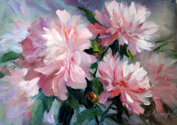 «Пионы» - мастер-класс китайской живописи Се-и