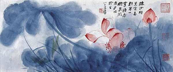 Чжан Дацянь картина в стиле Се-и