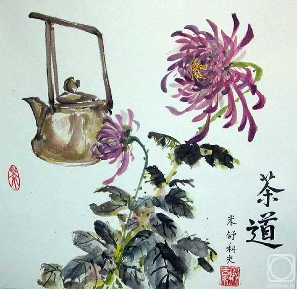 Хризантема в китайской живописи