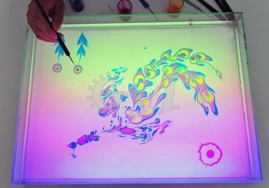 Японская живопись на воде