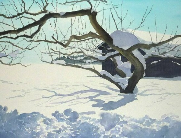 Японская акварельная живопись