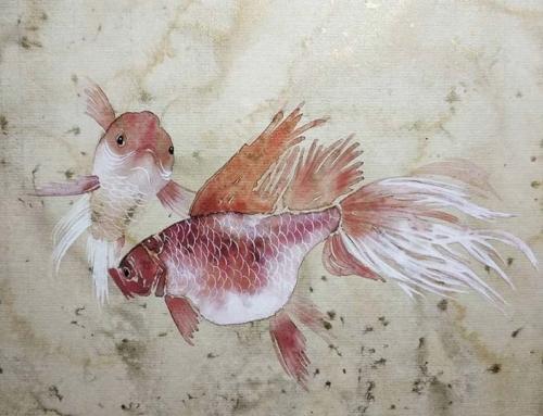 Продолжение занятий на курсе «Современное могуфа» – мастер-класс «Золотые рыбки»