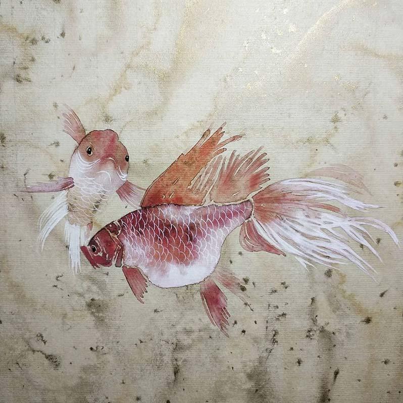 мастер-класс Золотые рыбки