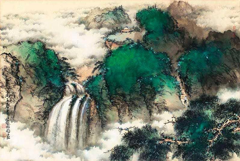 Продолжение занятий современным китайским пейзажем