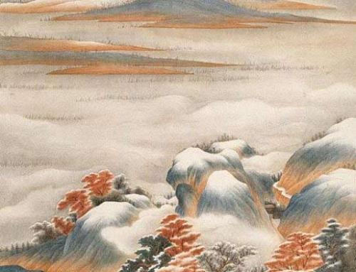Снежный пейзаж с Олей Обуховой