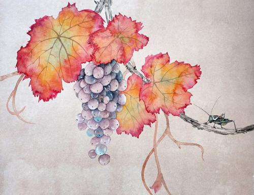 Повторение мини-курса «Виноград в технике могуфа»