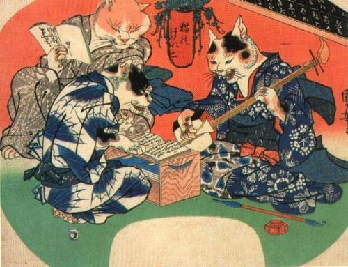 Искусство Японии.  Картины уплывающего мира.  Манга