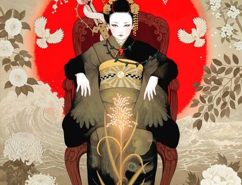 Красивые женщины в кимоно. Захватывающие картины Мики Катох
