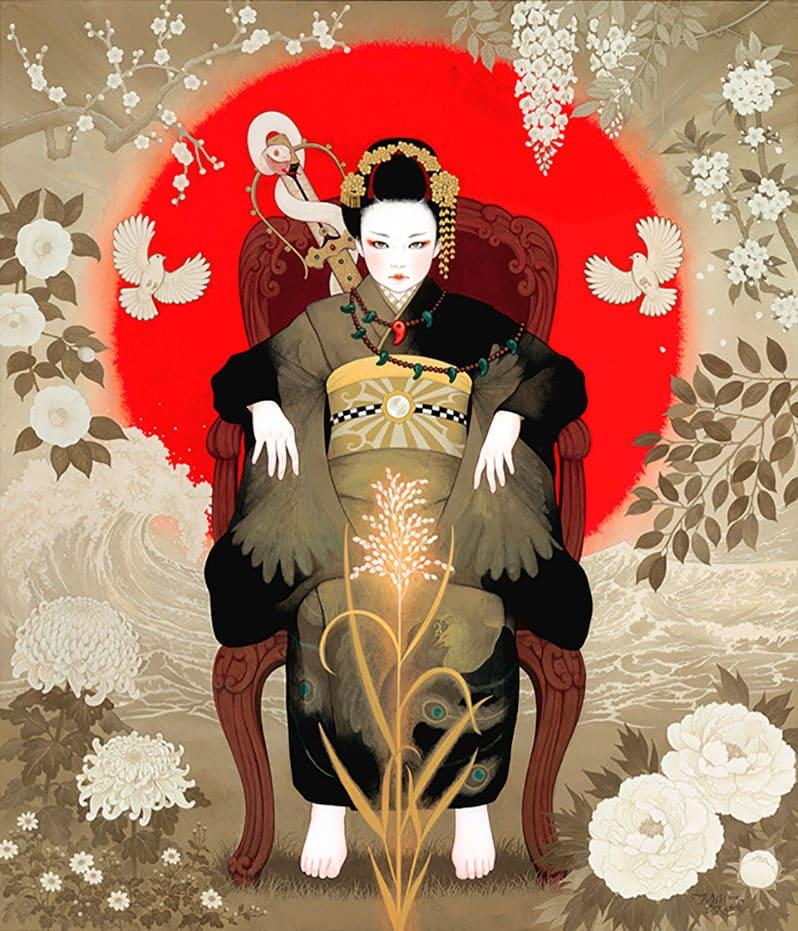 Красивые женщины в кимоно