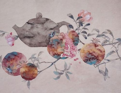 Рисуем гранат с чайником с Олей Обуховой