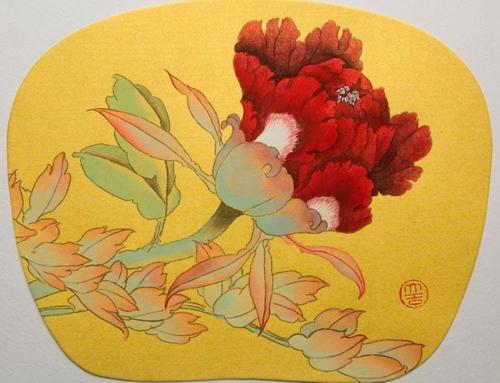 Рисуем в это воскресенье бутон пиона в стиле Гунби