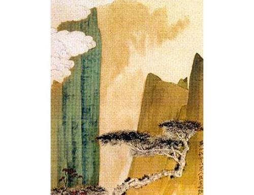 В эту пятницу копируем пейзаж Чжан Дацяня «Облака и сосны в горах Хуаншань»