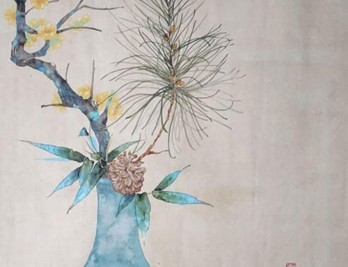 Предновогодний мастер-класс по бесконтурной китайской живописи