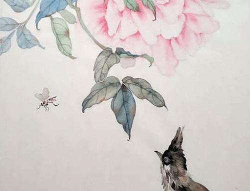Тема ближайших занятий могуфа «Птица с пионом»