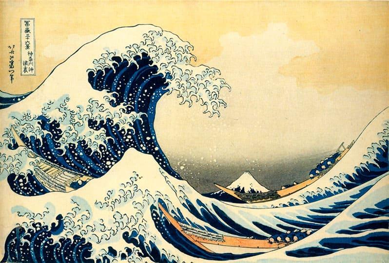 Кацусика Хокусай Большая волна в Канагаве