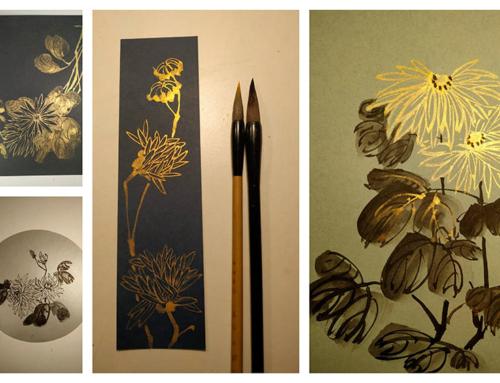 В воскресенье с Анной Павленко будем рисовать открытки с хризантемами