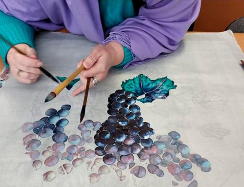 🍇 Рисуем виноград в стиле могуфа в группе Оли Обуховой