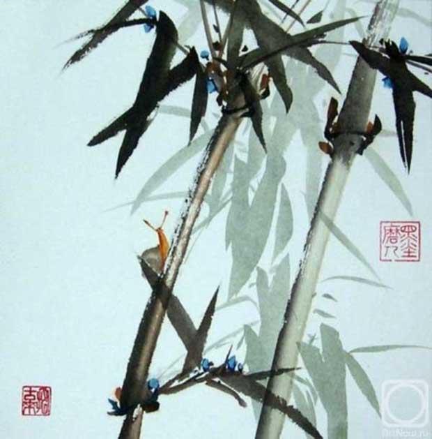 бамбук в китайской живописи