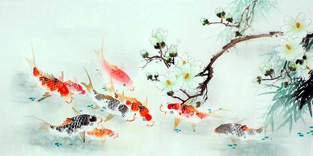 Карп в китайской живописи