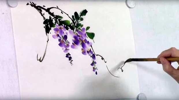 Глициния в китайской живописи