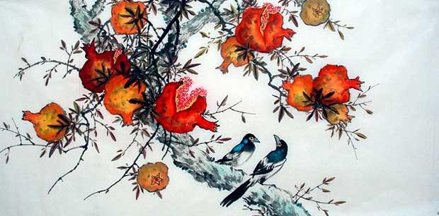 Гранат в китайской живописи