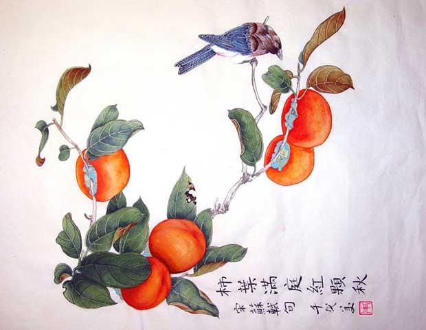 Хурма в китайской живописи