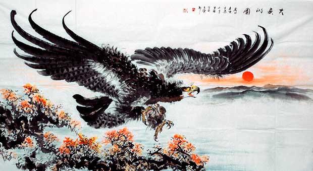 Орел в китайской живописи