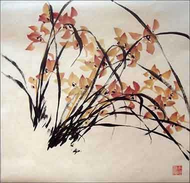орхидея в китайской живописи