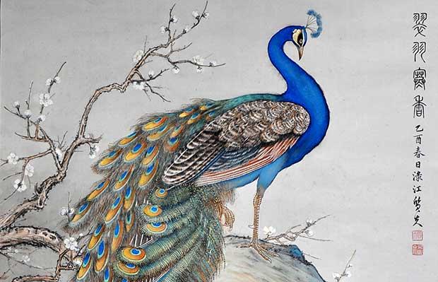 Павлин в китайской живописи