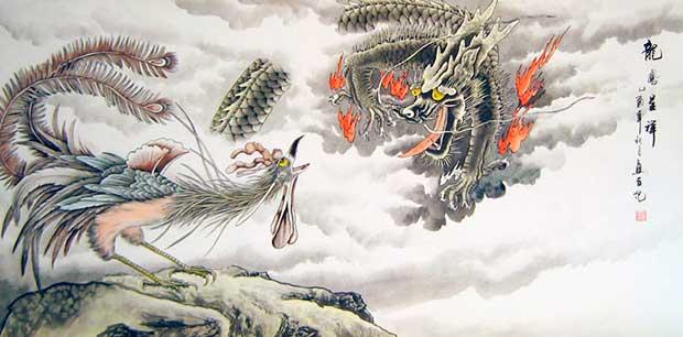 Феникс в китайской живописи