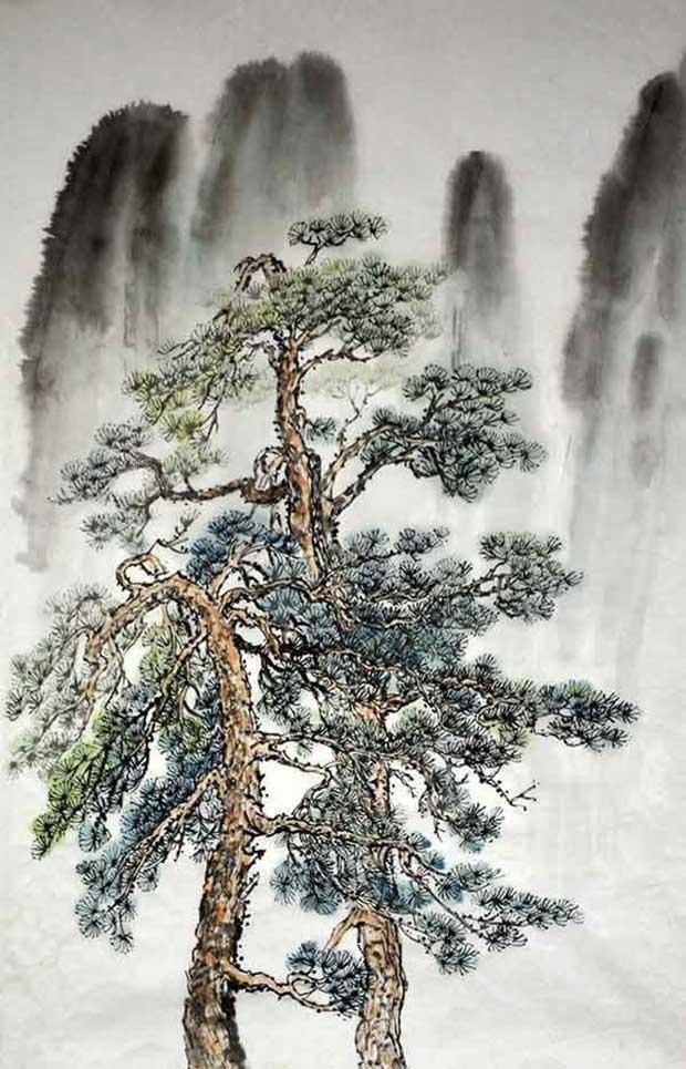 Сосна в китайской живописи