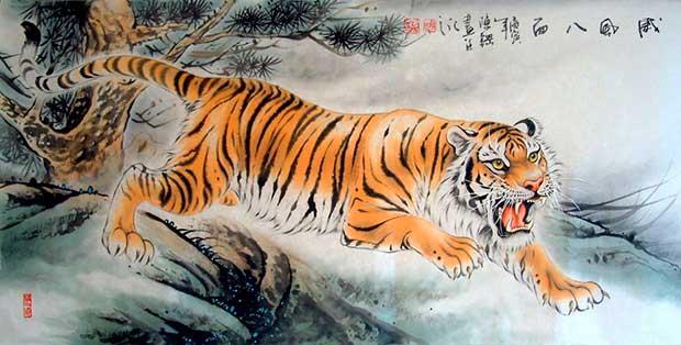 Тигр в китайской живописи