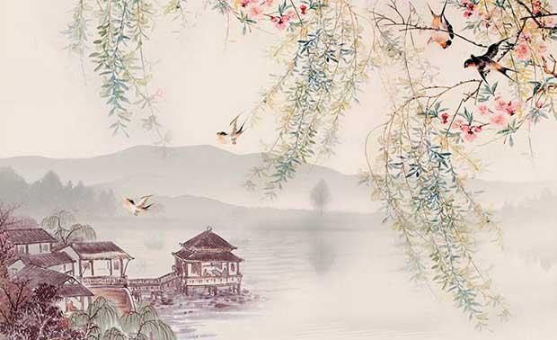 Ива в китайской живописи