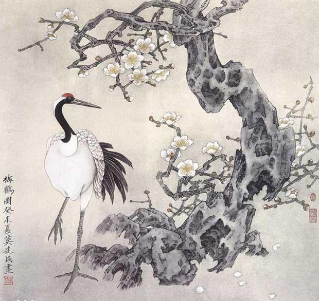 Журавли в китайской живописи